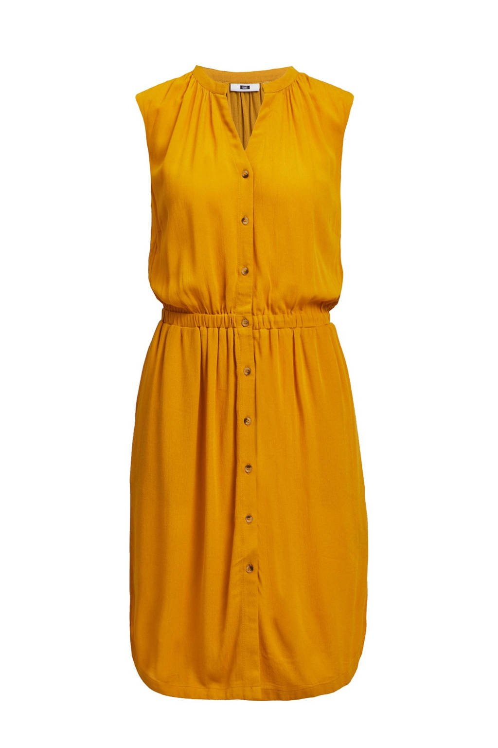 WE Fashion blousejurk met all over print mustard