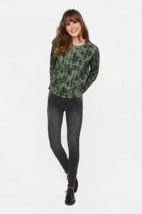 WE Fashion sweater met all over print groen, Groen