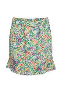 WE Fashion regular fit rok wit/groen/oranje, Wit/groen/oranje