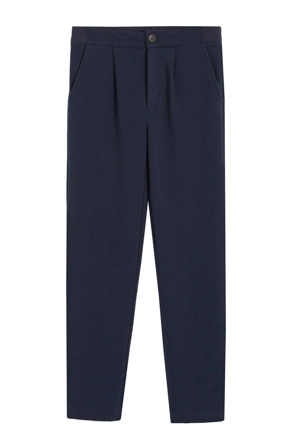 Mango Kids straight fit broek donkerblauw, Donkerblauw