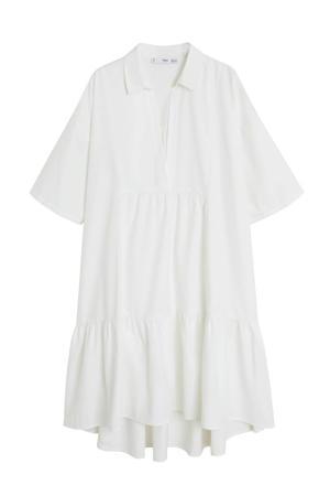 jurk met volant wit