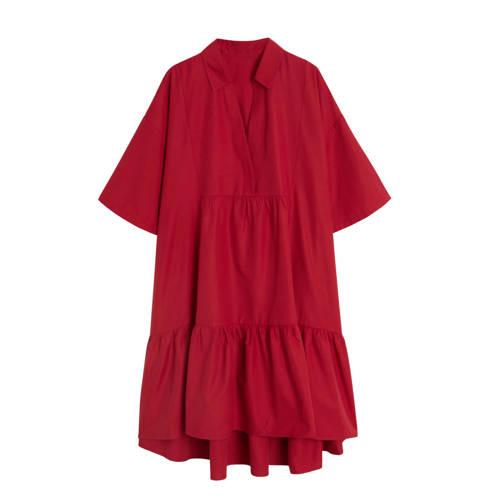 Mango jurk met volant rood