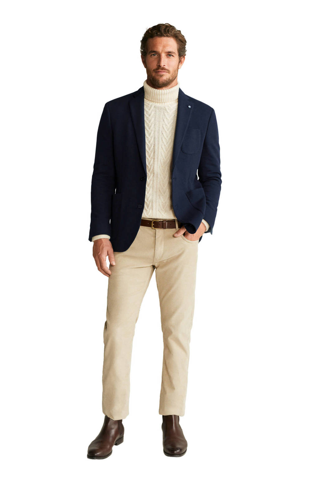 Mango Man slim fit colbert marineblauw, Marineblauw