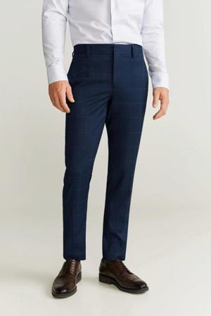 slim fit pantalon marineblauw
