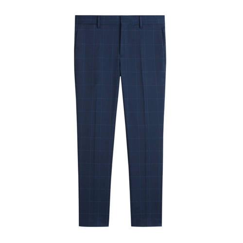 Mango Man slim fit pantalon marineblauw