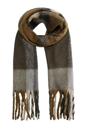 geruite sjaal marine