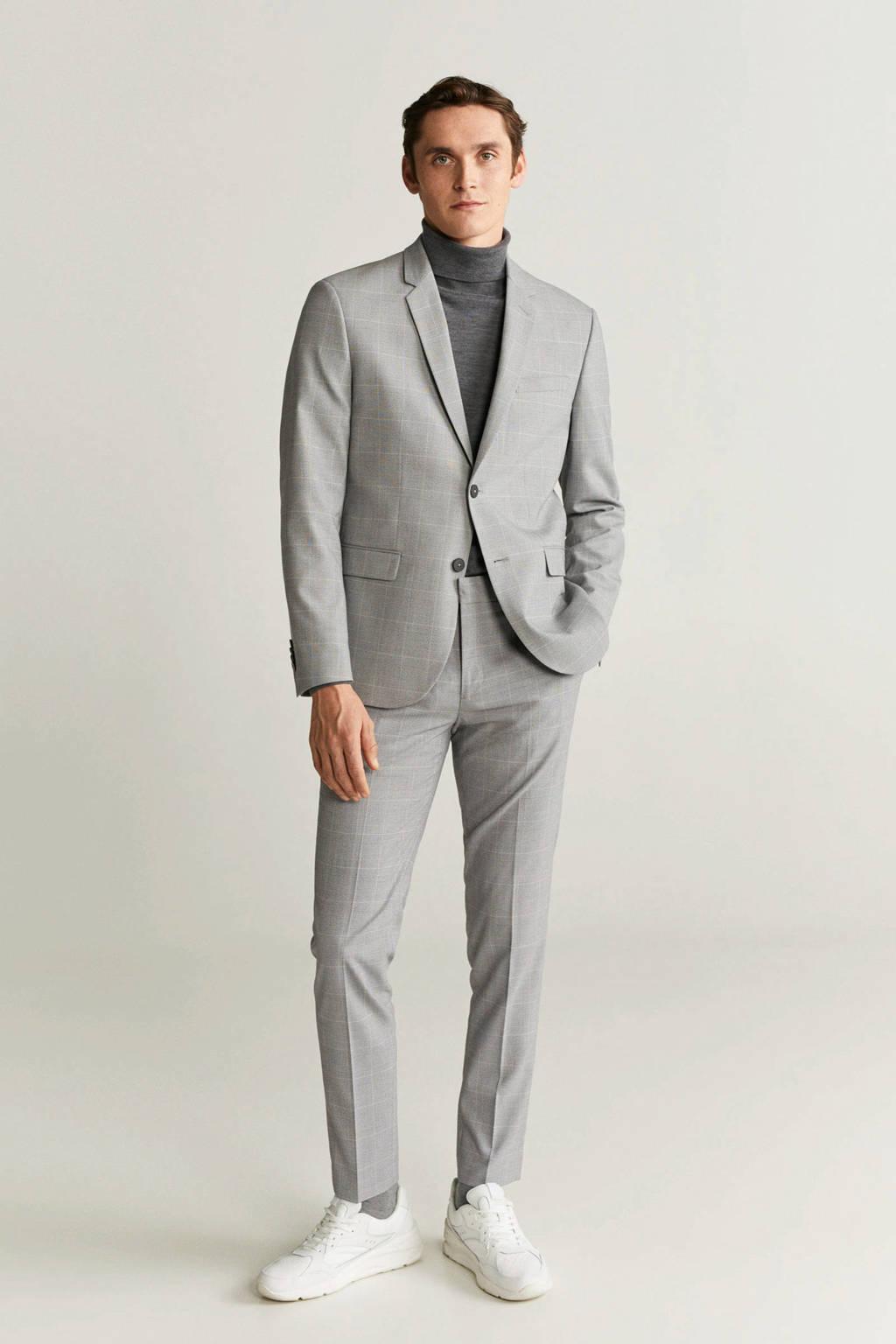 Mango Man skinny pantalon grijs, Grijs