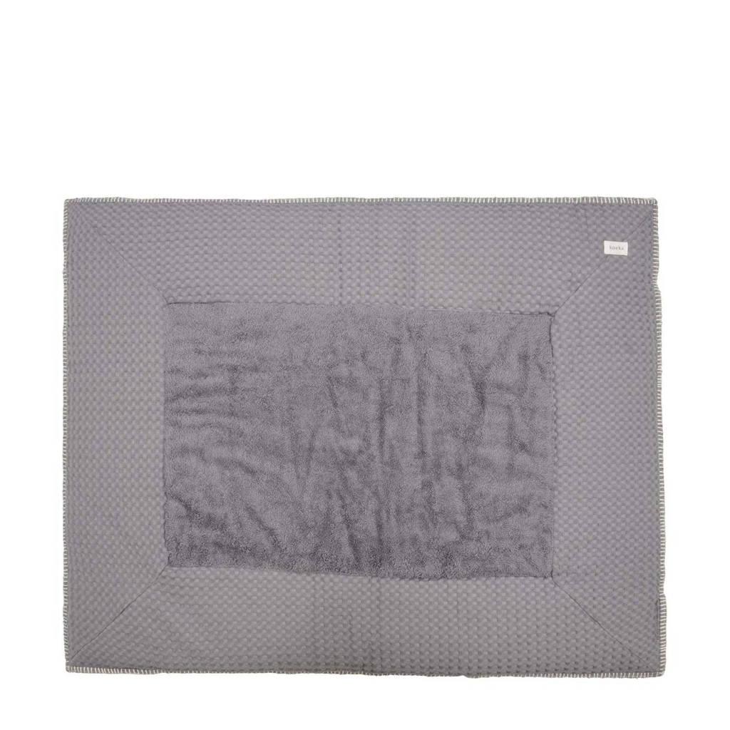 Koeka Amsterdam boxkleed Steel Grey/Sand 80 x 100 cm