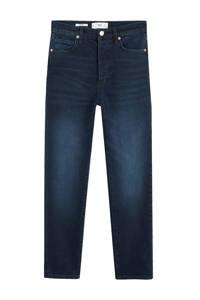 Mango high waist slim fit jeans donkerblauw, Donkerblauw