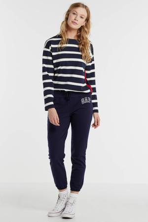 gestreepte sweater blauw/wit