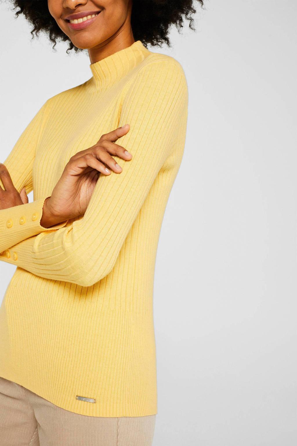 ESPRIT Women Casual coltrui geel, Geel
