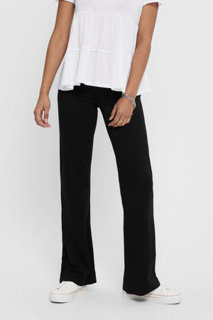 high waist flared broek JDYPRETTY zwart