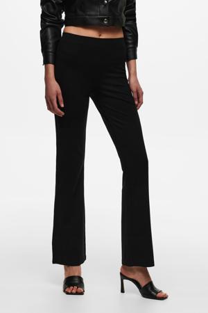 high waist flared broek JDYPRETTY zwart