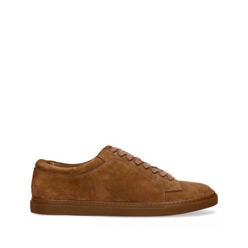 Manfield su??de sneakers bruin