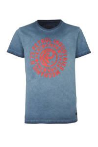 Petrol Industries T-shirt met printopdruk donkerblauw/rood, Donkerblauw/rood