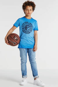 Petrol Industries T-shirt met printopdruk blauw/donkerblauw, Blauw/donkerblauw