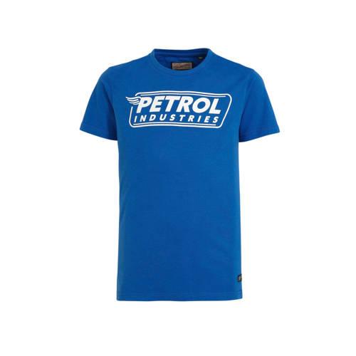 Petrol Industries T-shirt met logo hardblauw/wit