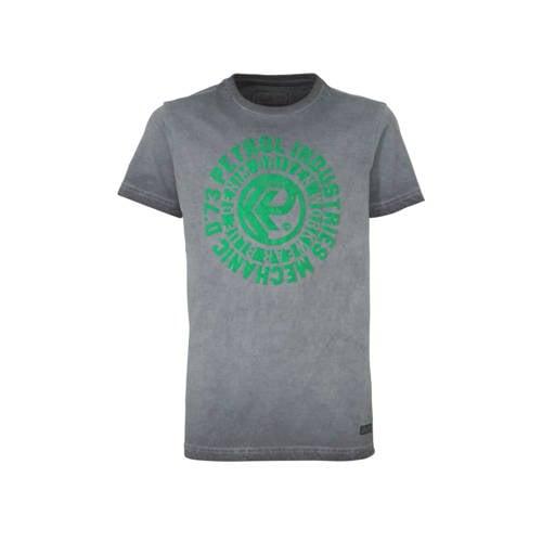 Petrol Industries T-shirt met printopdruk grijs/gr