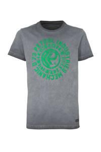Petrol Industries T-shirt met printopdruk grijs/groen, Grijs/groen