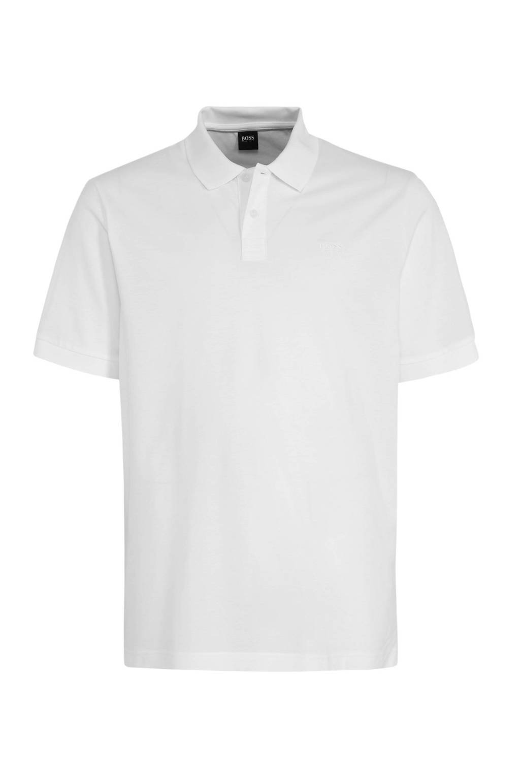 BOSS regular fit polo met logo wit, Wit