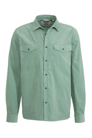 corduroy regular fit overhemd groen