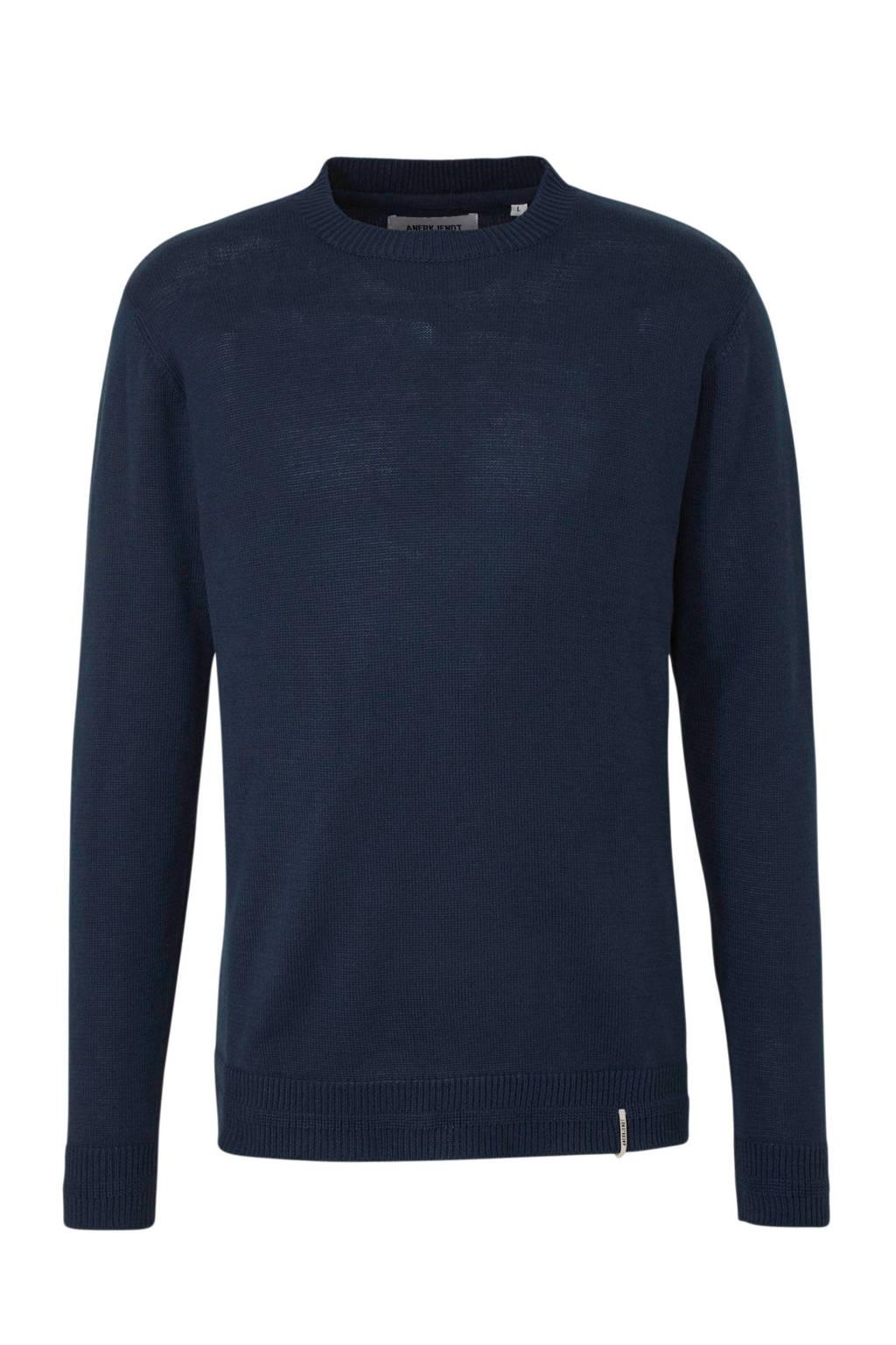 Anerkjendt sweater donkerblauw, Donkerblauw