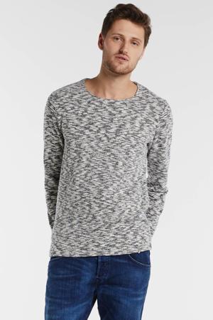 sweater marine/grijs/wit