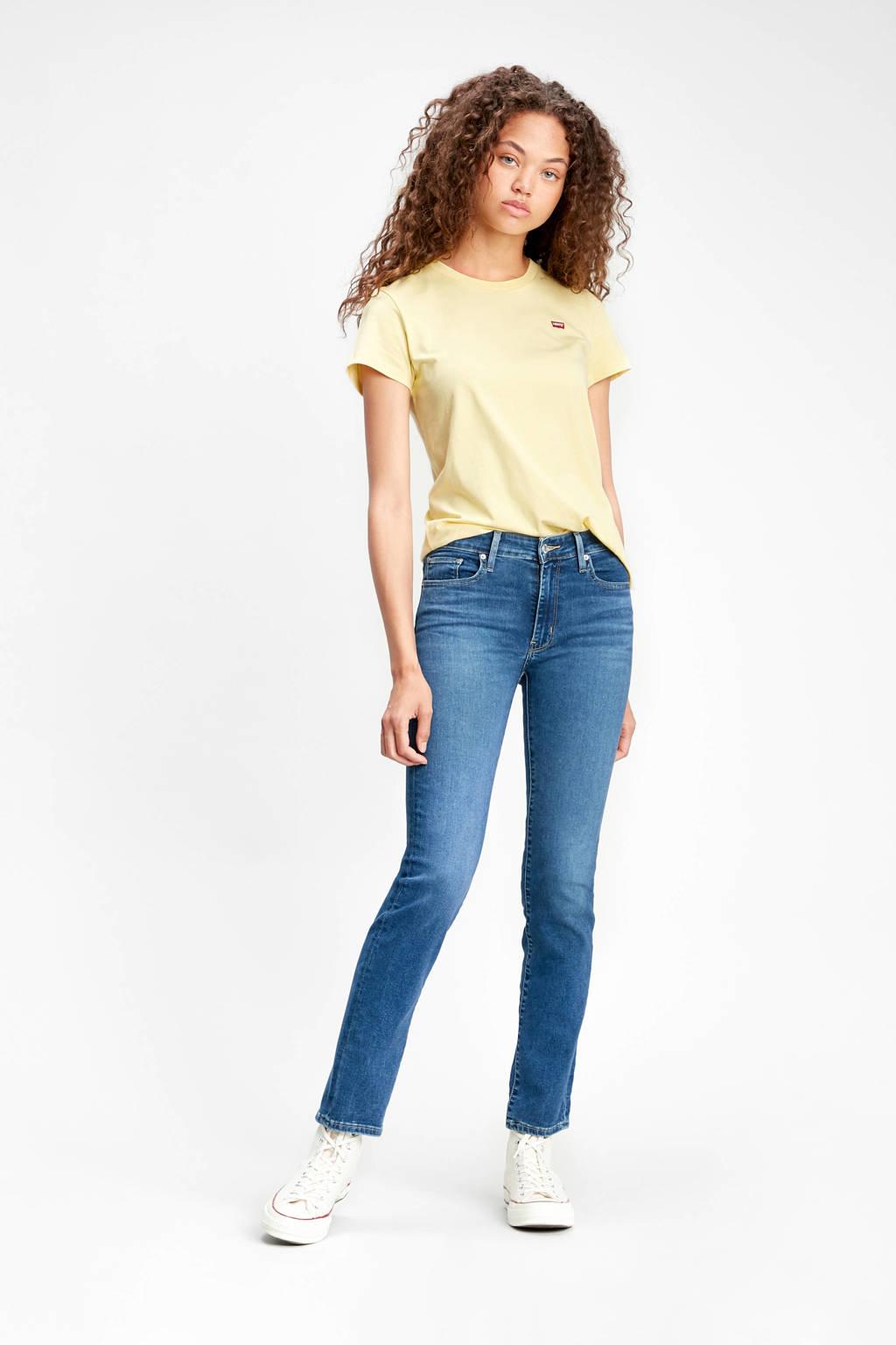 Levi's 712 high waist slim fit jeans donkerblauw, Donkerblauw