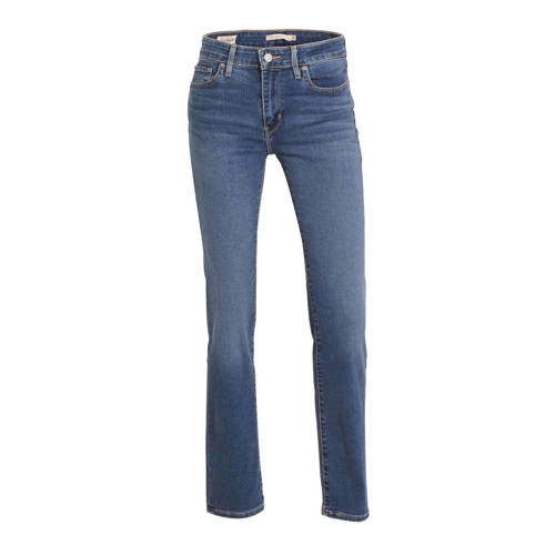 Levi's 712 high waist slim fit jeans donkerblauw