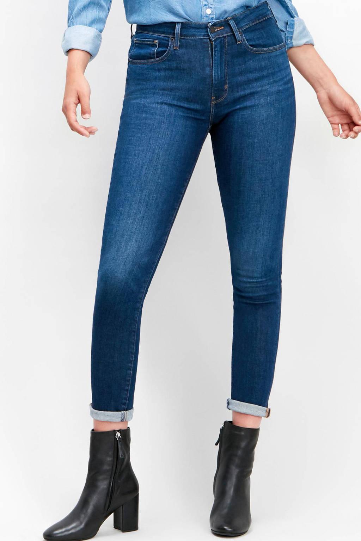 Levi's 721 skinny high waist blauw, Donkerblauw
