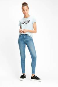 Levi's high waist skinny jeans Mile blauw, Blauw