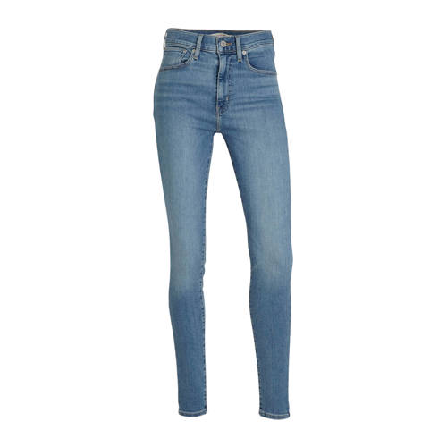 Levi's high waist skinny jeans Mile blauw