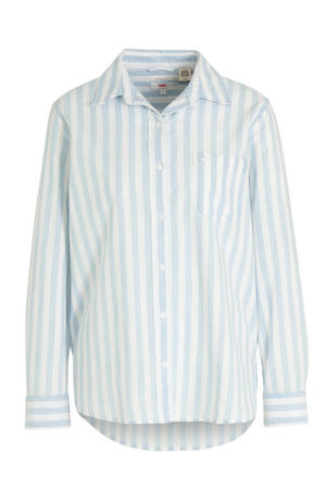 gestreepte blouse Anette bf shirt wit/blauw