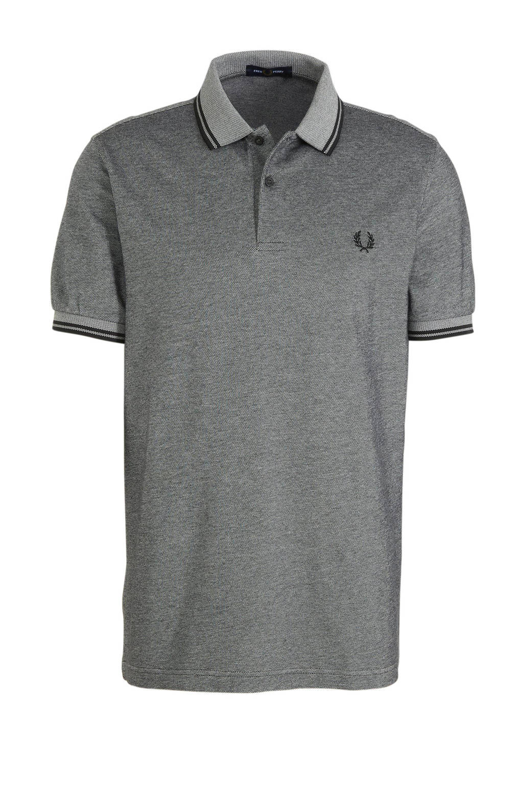 Fred Perry gemêleerde regular fit polo antracie, Antracie
