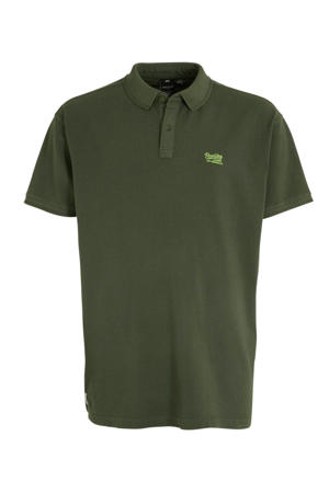 +size regular fit polo groen