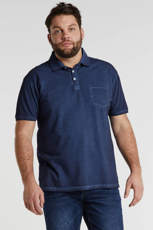 +size regular fit polo navy blue