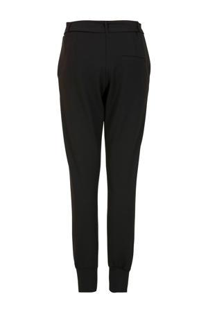 high waist slim fit broek zwart
