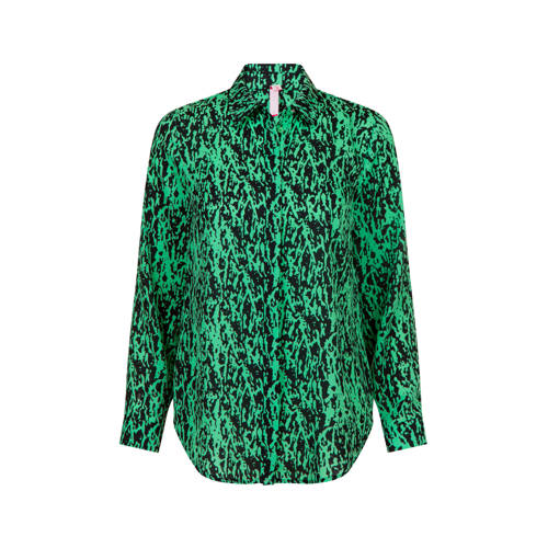Miss Etam Regulier blouse met all over print groen