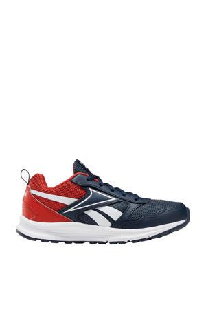 Almotio 5.0  hardloopschoenen donkerblauw/rood jongens