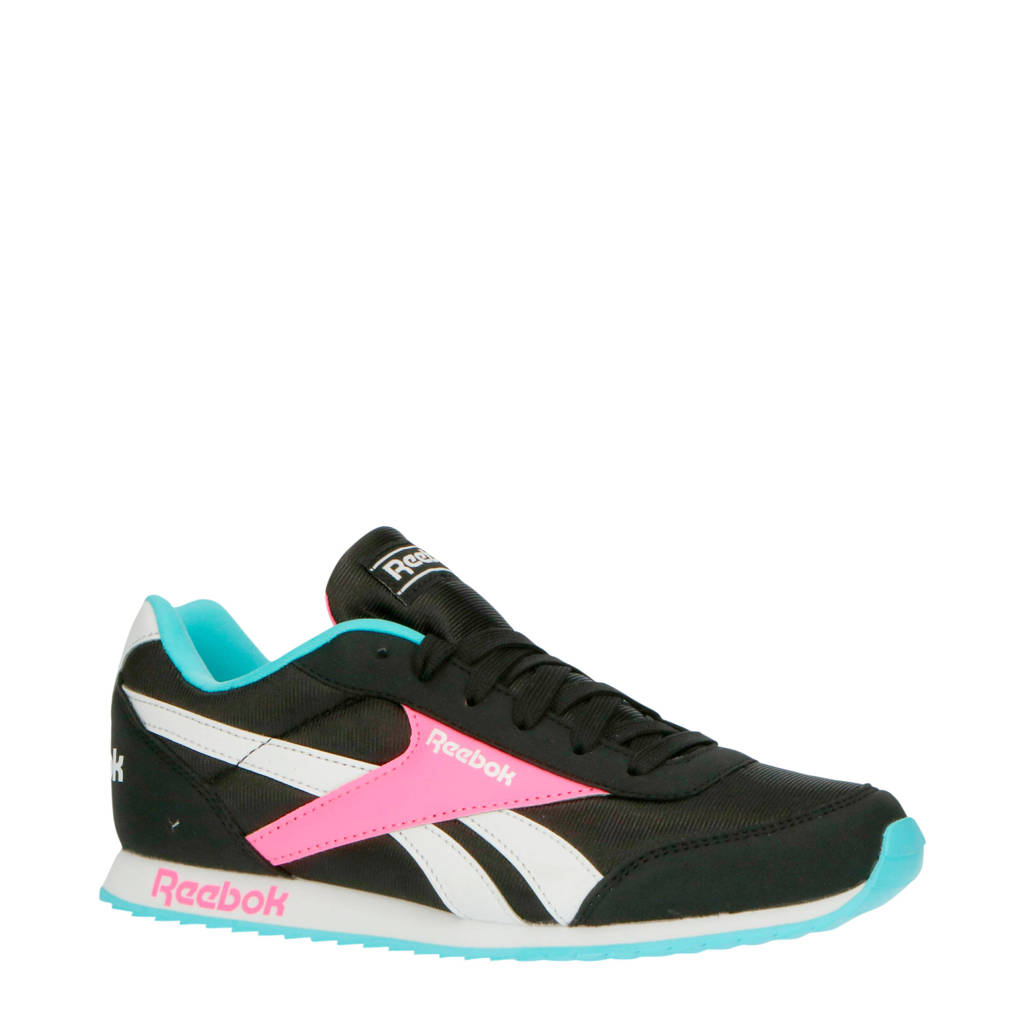 Reebok Classics Royal Cljog  sneakers zwart/roze, zwart/roze/wit/blauw
