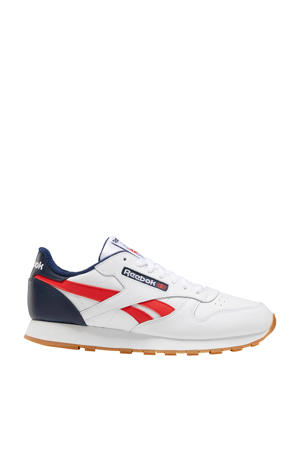 Classic Leather  sneakers wit/rood/blauw