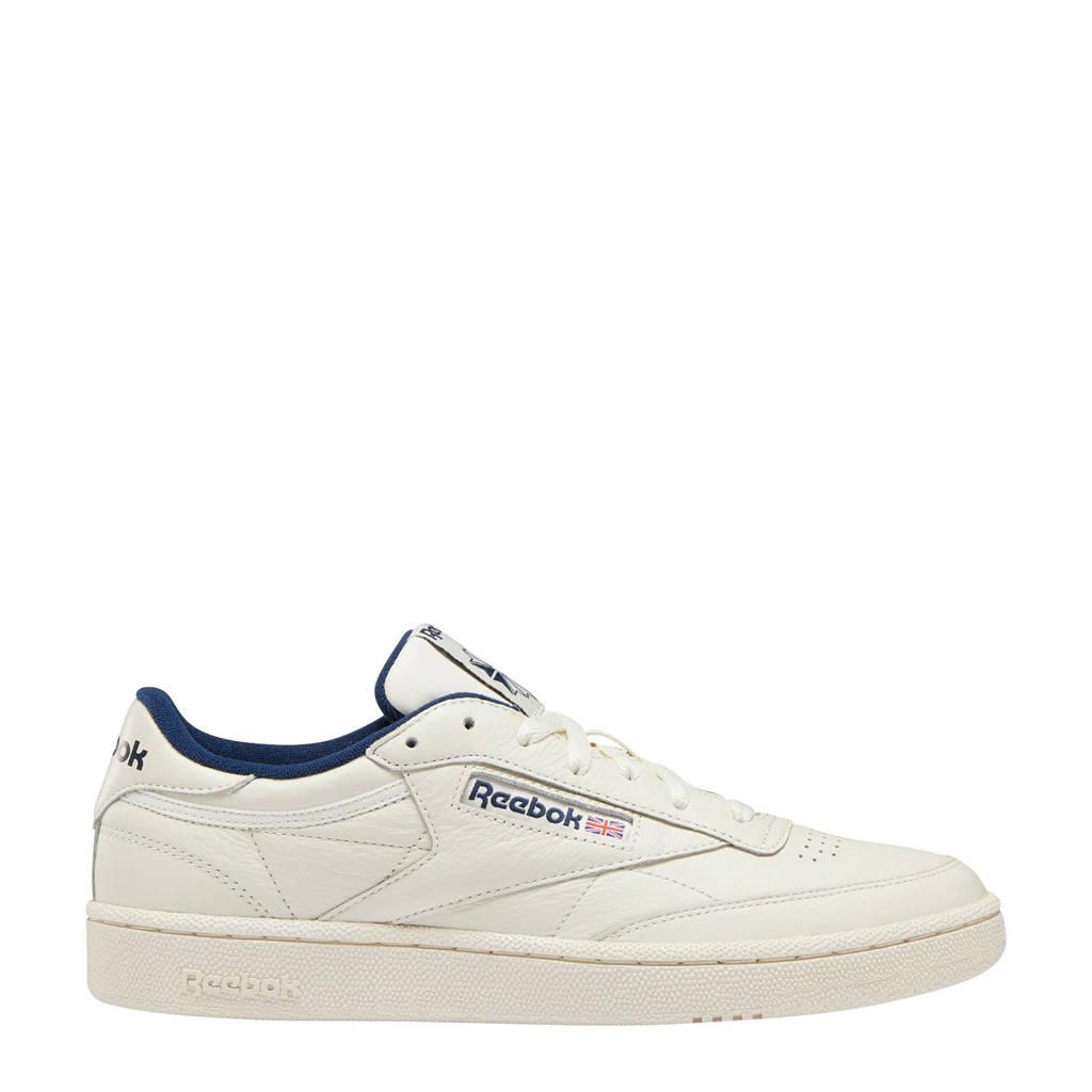 Reebok Classics Club C 85 MU sneakers ecru/blauw, Ecru/donkerblauw