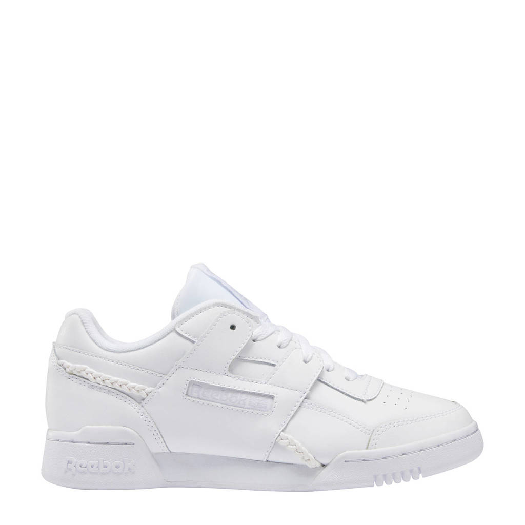 Reebok Classics Workout Lo Plus  sneakers wit/lila, Wit/lila