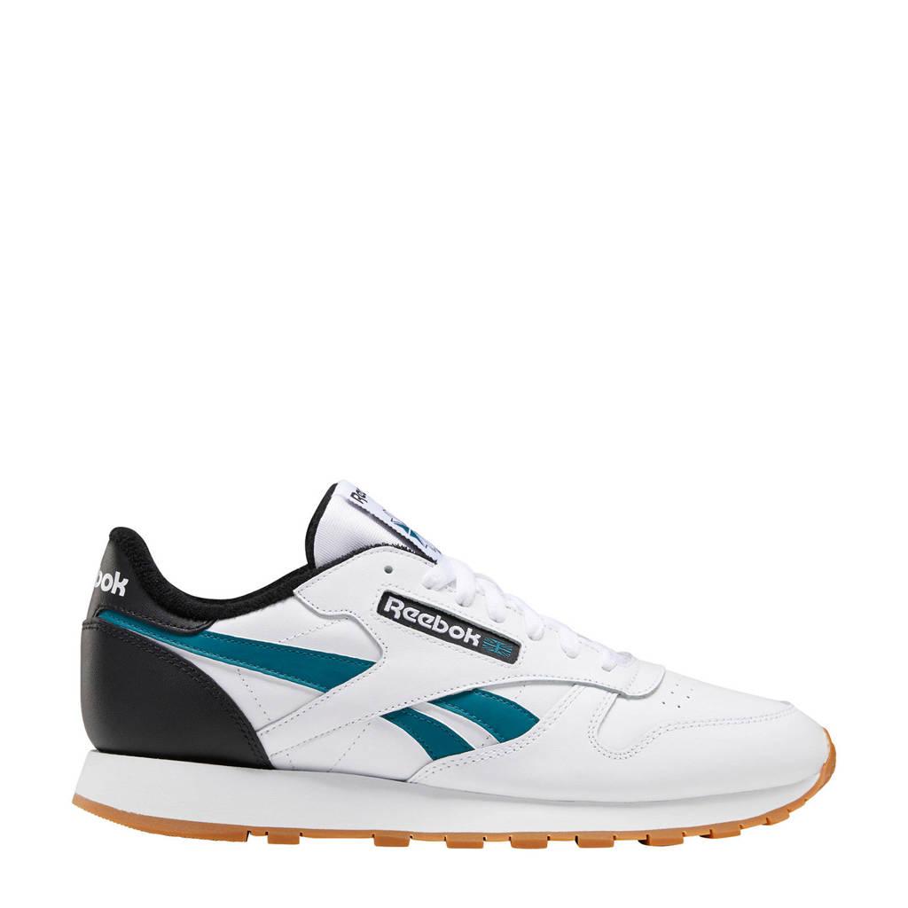 Reebok Classic Leather  sneakers wit/blauw/zwart, Wit/blauw/zwart