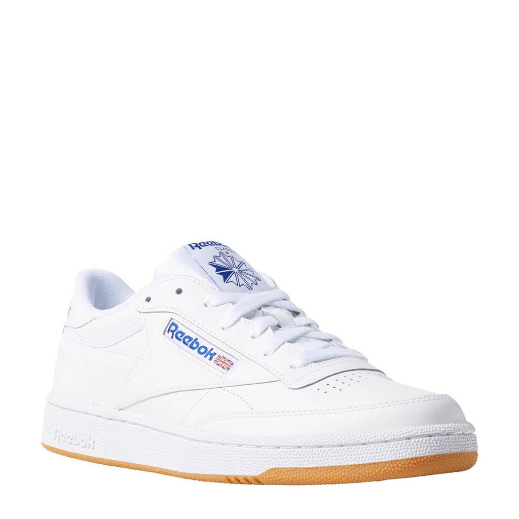 Reebok Club C 85  sneakers wit/blauw, Wit/blauw