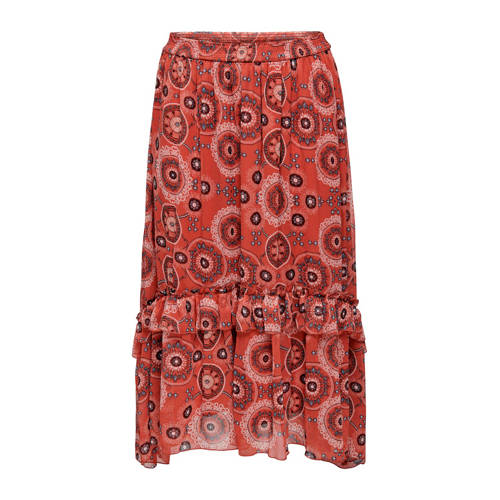 ONLY CARMAKOMA rok met all over print en ruches ro