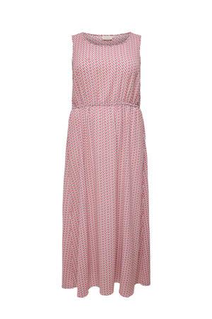 maxi jurk met all over print lichtroze