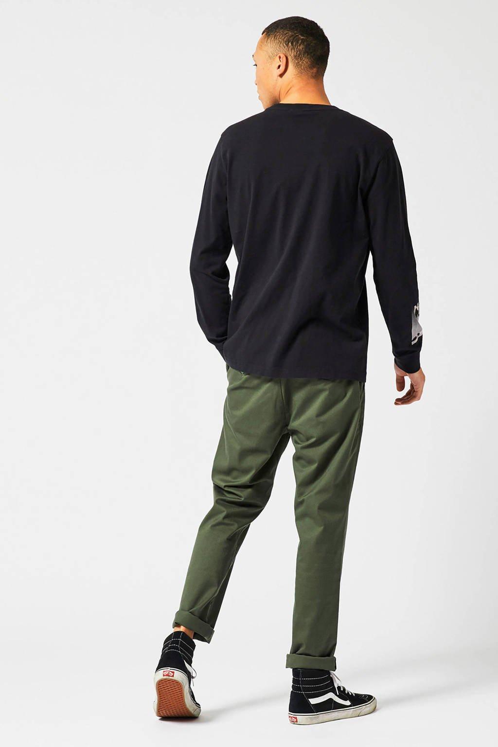 America Today sweater met printopdruk black, Black