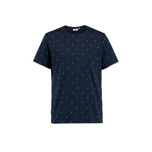 America Today T-shirt van biologisch katoen marine