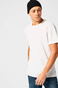 America Today T-shirt van biologisch katoen off white, Off White